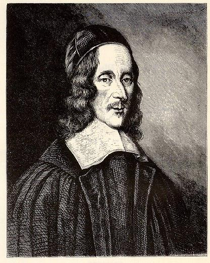 Portrait of George Herbert (poet) by Robert White in 1674. From National Portrait Gallery (UK)