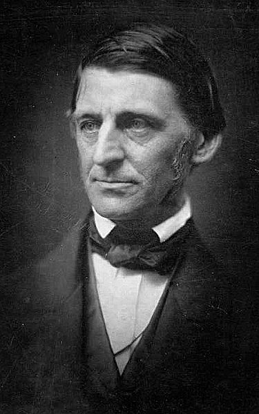 American writer Ralph Waldo Emerson in 1857