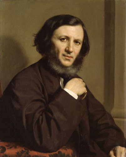 Robert Browning by Michele Gordigiani, painting, 1858