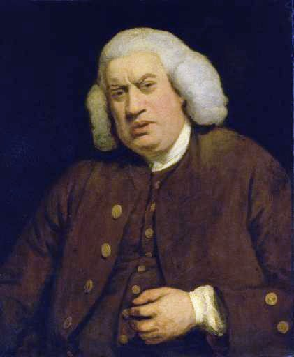 Portrait of Samuel Johnson commissioned for Henry Thrale's Streatham Park gallery.