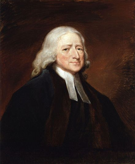 John Wesley. Portrait by George Romney (1789), National Portrait Gallery, London.