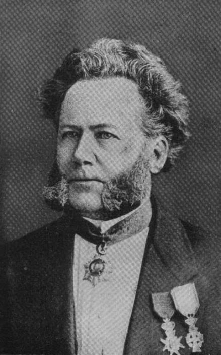 Ibsen photographed in Dresden ca. 1870.