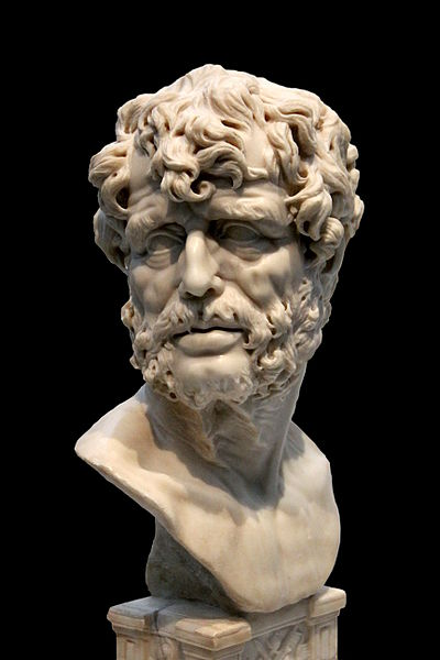 This Baroque marble imaginary portrait bust of Seneca, by an anonymous sculptor of the 17th century (Museo del Prado). This illustration was made by Jean-Pol GRANDMONT.