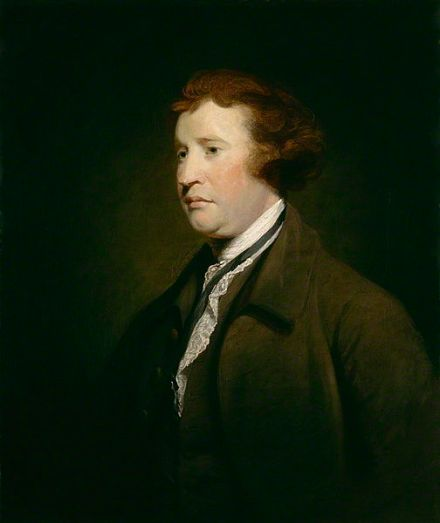 Painting of Edmund Burke MP c. 1767, studio of Joshua Reynolds (1723–1792).