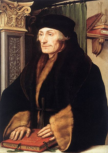 Portrait of Erasmus of Rotterdam (1523) by Hans Holbein the Younger.