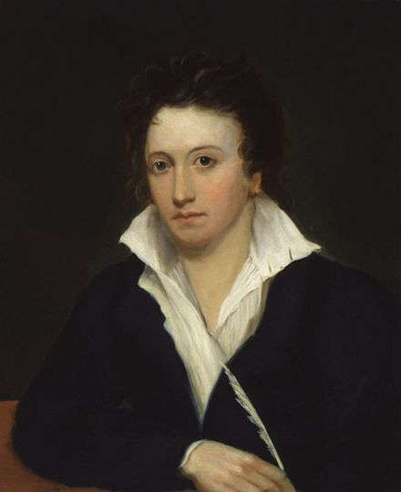 Portrait of Shelley, by Alfred Clint (1819).