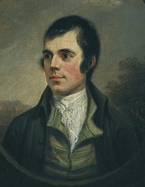 The best-known portrait of Burns, by Alexander Nasmyth, 1787 (detail).