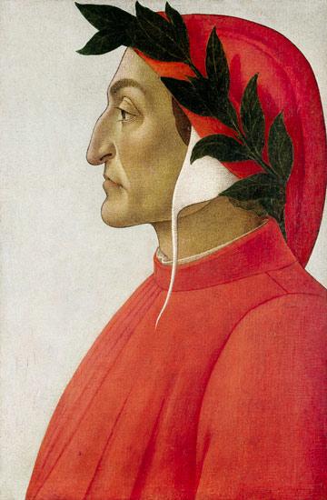 Profile portrait in tempera by Sandro Botticelli, 1495