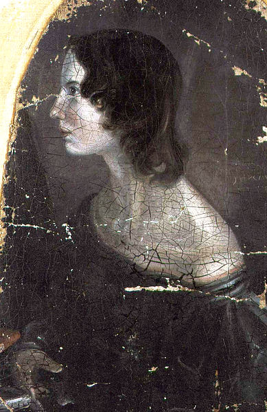 A portrait of Emily Brontë painted by her brother, Branwell Brontë (c. 1833)