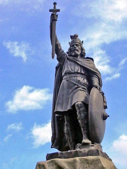 Statue of Alfred the Great by Hamo Thornycroft in Winchester, unveiled during the millenary commemoration of Alfred's death.